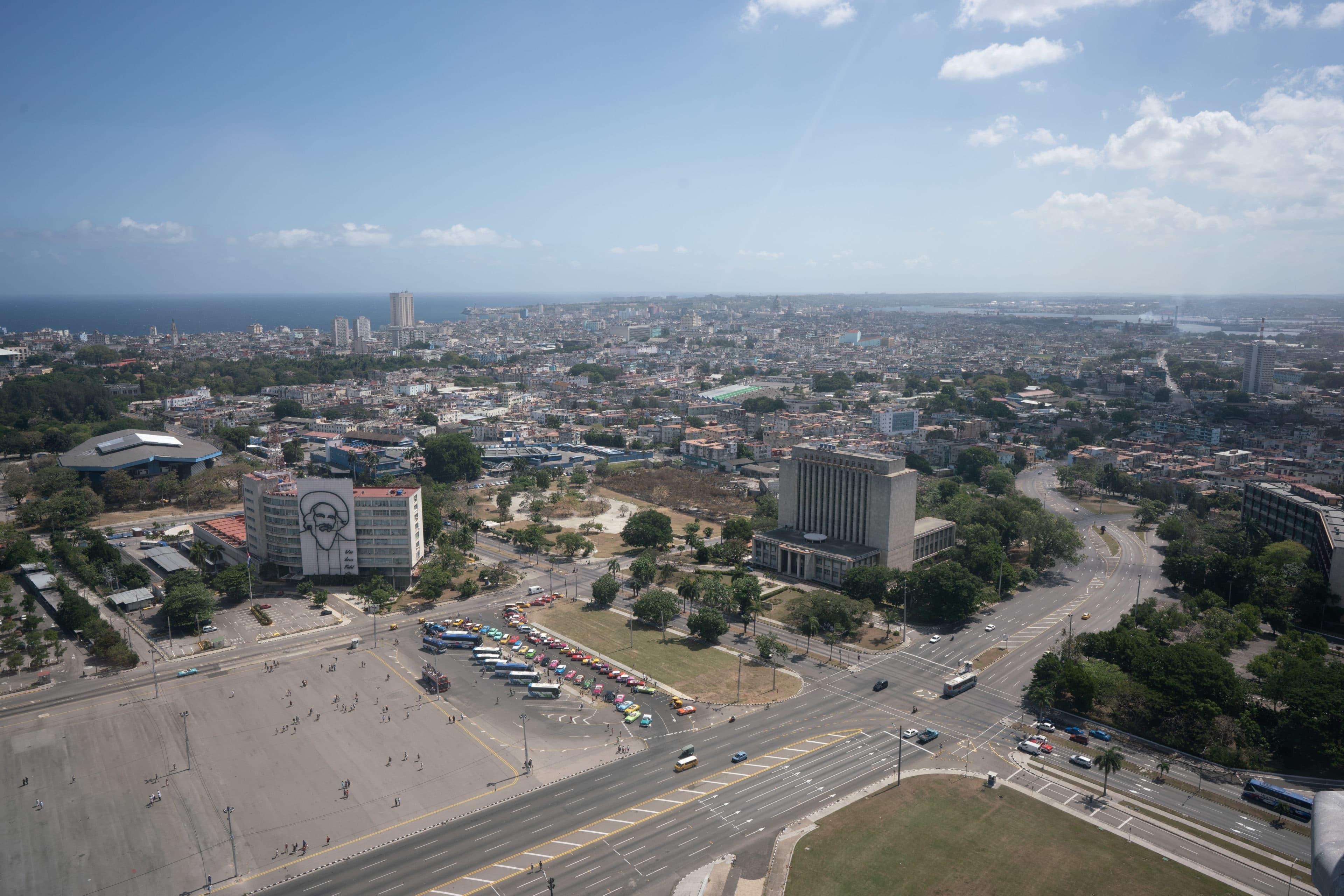 Blick auf den Plaza de La Revolucion, Havanna