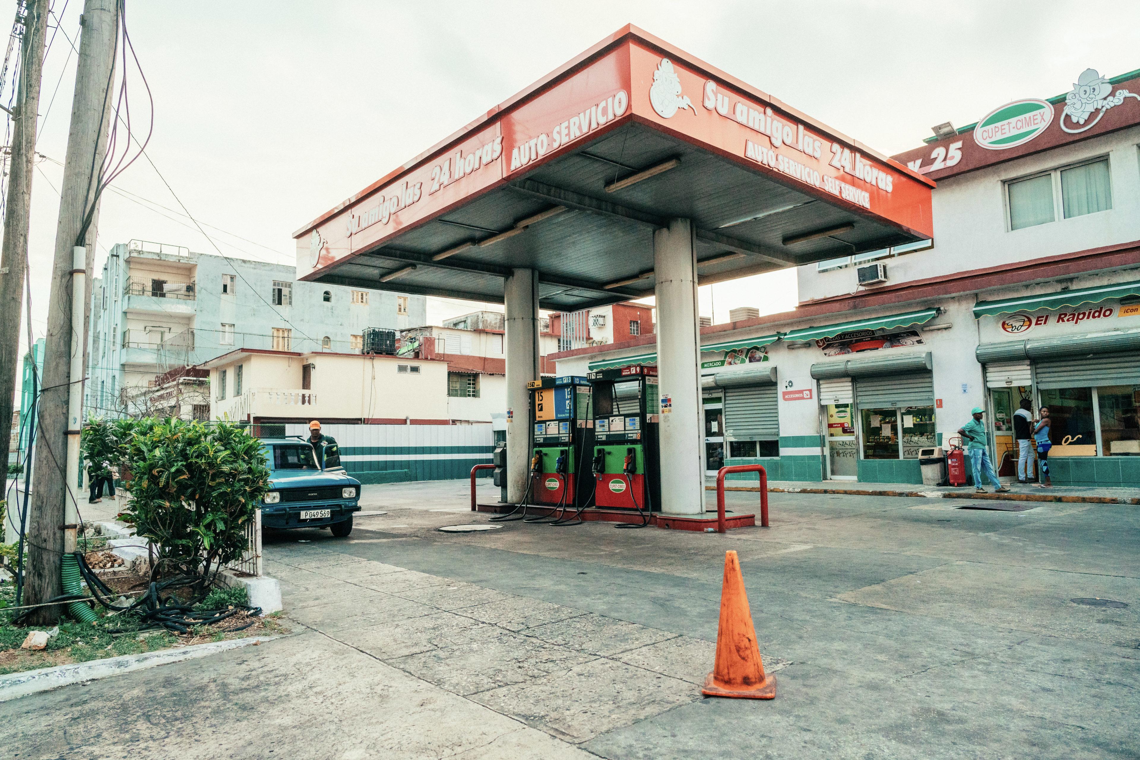 Eine Tankstelle in Kuba