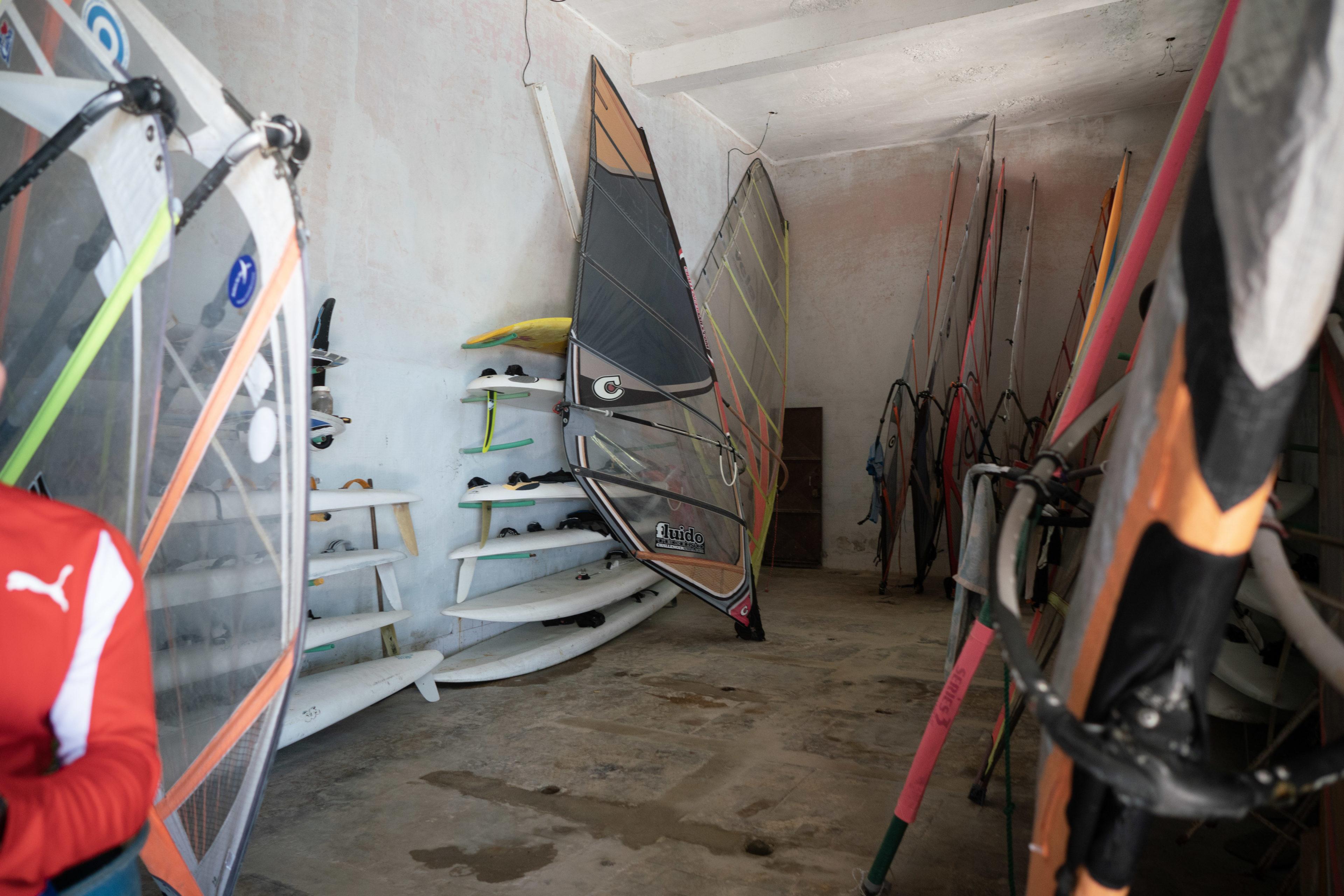 Ausrüstung fürs Windsurfen