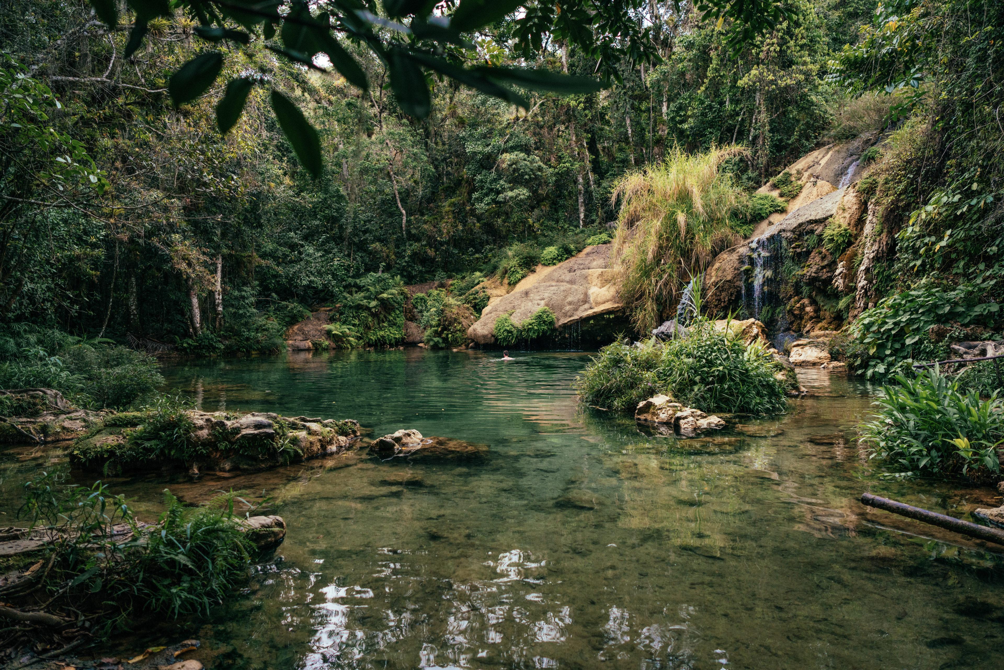 Badestelle im Nationalpark in Kuba