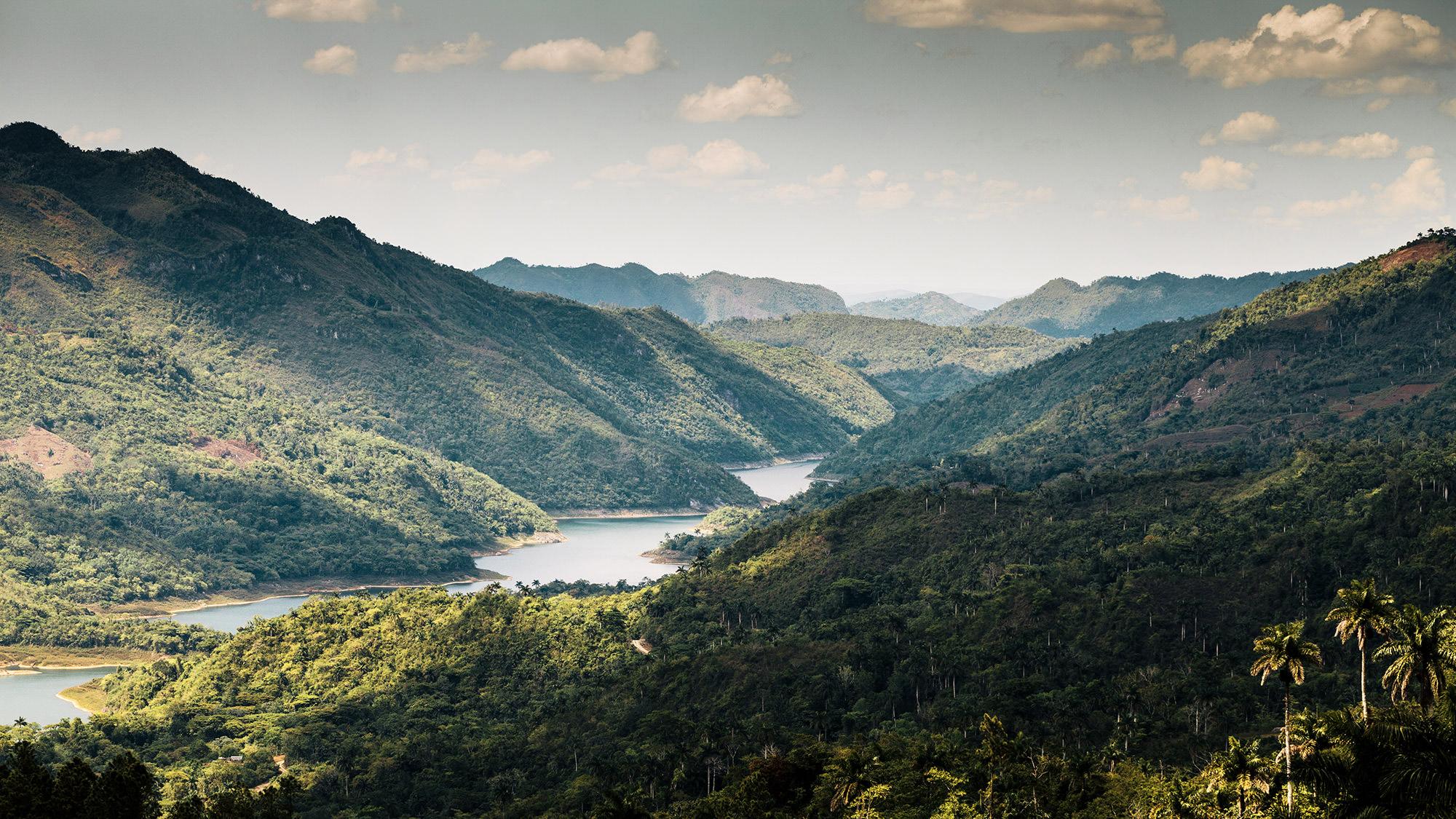 Blick über den Topes de Collantes Nationalpark in Kuba