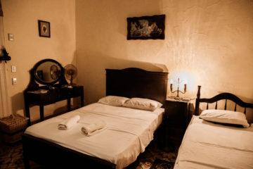 Schlafzimmer mit Doppelbett Casa Font in Trinidad
