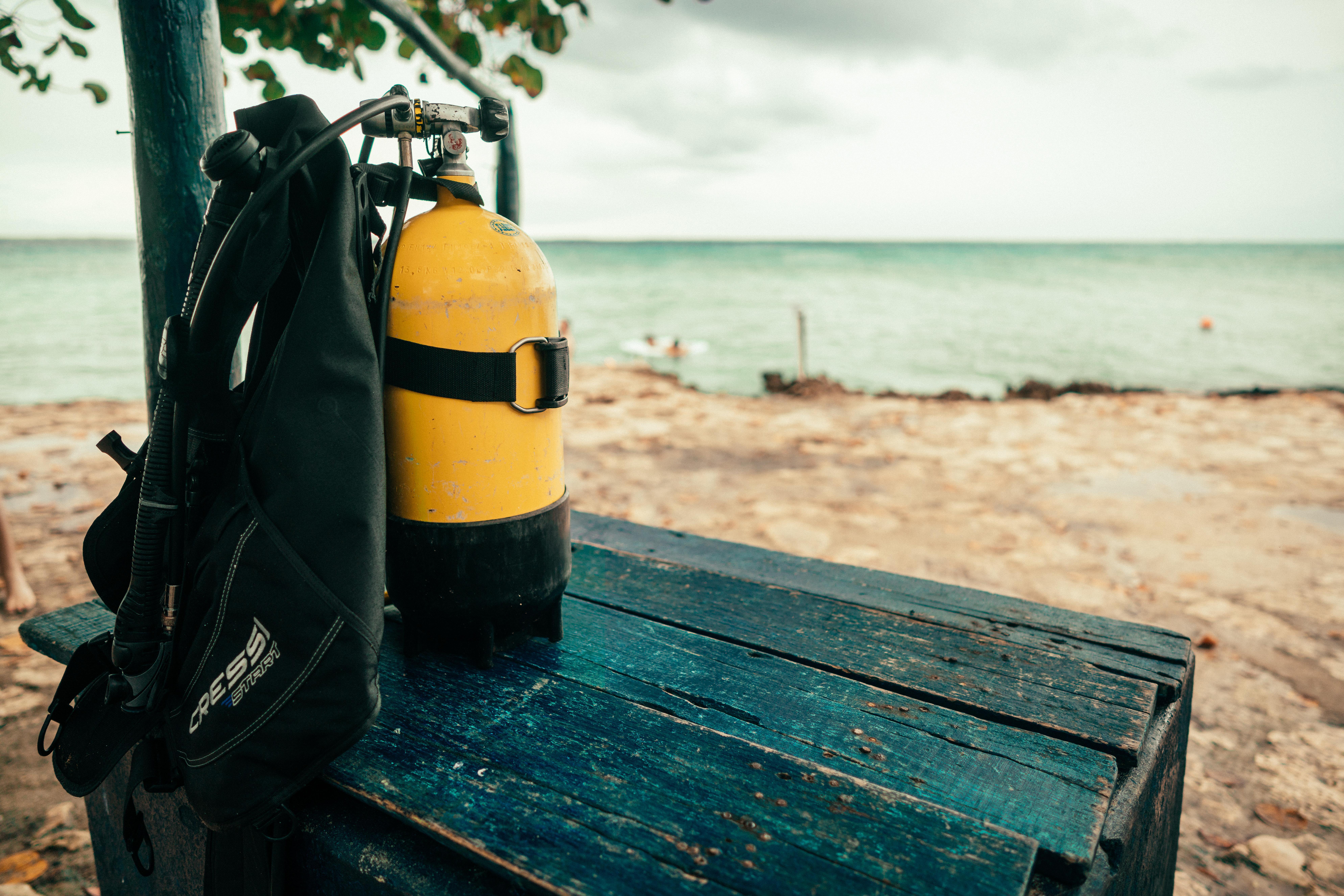 Tauchausrüstung bereit zum Einsatz in Isla de la Juventud